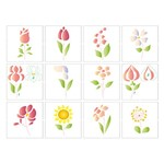Stencil Litoarte 25x20 STR-090 Miniatura Flores