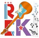 Stencil Litoarte 25x20 STR-096 Rock Guitarra