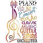 Stencil Litoarte 25x20 STR-097 Violão Nota Musical