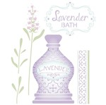 Stencil Litoarte 25x20 STR-099 Perfume Lavandas