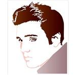 Stencil Litoarte 25x20 STR-135 Elvis Presley