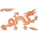 Stencil Litoarte 25x25 STXXV-008 Dragão Oriental