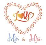 Stencil Litoarte 25x25 STXXV-013 Coração Love Mr e Mrs