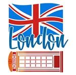 Stencil Litoarte 25x25 STXXV-031 London Bandeira