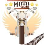 Stencil Litoarte 25x25 STXXV-040 Moto Club