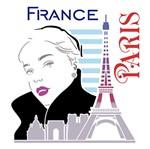 Stencil Litoarte 25x25 STXXV-027 Mulher Torre Eiffel