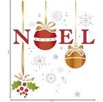 Stencil Litoarte Natal 17,2x21,1 STMN-071 Noel Flocos de Neve