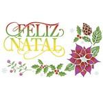 Stencil Litoarte Natal 34,4x21 STNGG-026 Arranjo Natalino Feliz Natal