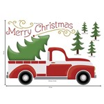 Stencil Litoarte Natal 25x25 STXXVN-003 Caminhão Árvore