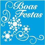 Stencil Litoarte Natal 9x9 STNX-034 Boas Festas