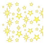 Stencil Litoarte Natal 9x9 STNX-044 Estampa de Estrelas