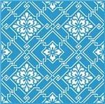 Stencil Litoarte Rose Ferreira 20 X 20 Cm - STXX-005 Estampa Azulejo com Flores