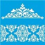 Stencil Litoarte Rose Ferreira 20 X 20 Cm - STXX-012 Arabesco e Estampa Barroca