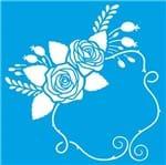 Stencil Litoarte Rose Ferreira 20 X 20 Cm - STXX-076 Arranjo de Flores, Molduras