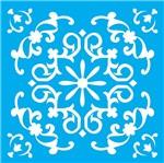 Stencil Litocart 30x30 LSPG-012 Azulejo Colonial