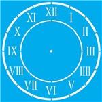 Stencil Litocart 30x30 LSPG-040 Relógio Romano