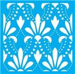 Stencil Litocart 20x20 LSQ-094 Estampa Flores e Corações