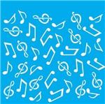 Stencil Litocart 20x20 LSQ-112 Notas Musicais
