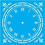 Stencil Litocart 20x20 LSQ-141 Relógio Trabalhado