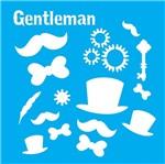 Stencil Litocart 20x20 LSQ-138 Gentleman