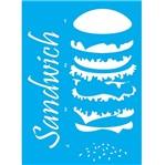 Stencil Litocart 30x20 LSS-045 Sanduíche
