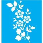 Stencil Litocart 20x15 LSM-019 Flores 5 Pétalas
