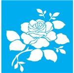 Stencil Litocart 20x15 LSM-027 Rosa Flor