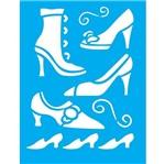 Stencil Litocart 20x15 LSM-082 Sapatos