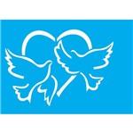 Stencil Litocart 20x15 LSM-099 Pomba da Paz