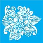 Stencil Litocart 14x14 LSP-055 Flores Ornamentais