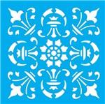 Stencil Litocart 14x14 LSP-057 Azulejo Lança
