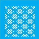 Stencil Litocart 14x14 LSP-038 Azulejo Quadradinhos
