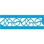 Stencil Litocart 21x5,5 LSB-010 Forma Abstrato