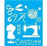 Stencil Litocart 25x20 LSG-046 Costura
