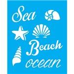 Stencil Litocart 25x20 LSG-063 Sea Beach Ocean
