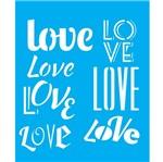 Stencil Litocart 25x20 LSG-070 Love