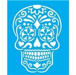 Stencil Litocart 25x20 LSG-119 Caveira Mexicana I