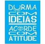 Stencil Litocart 25x20 LSG-141 Durma com Idéias