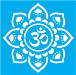 Stencil Litocart 25x25 LSPQ-005 Mandala Om Flor
