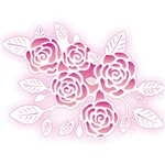 Stencil OPA 20x25 2073 Negativo Rosas