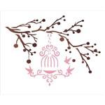 Stencil OPA 20x25 1411 Galhos e Pássaros