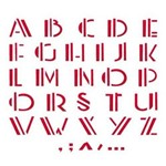 Stencil Opa 20x25 Alfabeto Reto 476