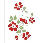 Stencil Opa 20x25 Flor Papoulas 1333