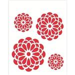 Stencil Opa 20x25 Flores Redondas 1245