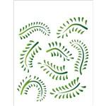 Stencil Opa 20x25 Folhagem Samambaia 1409