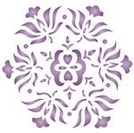 Stencil OPA 10x10 458 Mandala Flor Pequeno