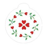 Stencil OPA 10x10 859 Mandala Flor Coração