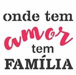 Stencil OPA 14x14 2690 Frase Onde Tem Amor