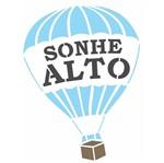 Stencil OPA 15x20 2703 Frase Balão Sonhe Alto