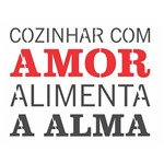 Stencil OPA 15x20 2705 Frase Cozinhar com Amor